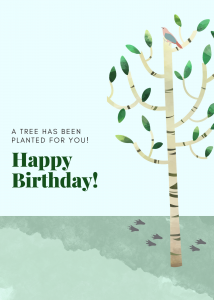 Birch Birthday Card