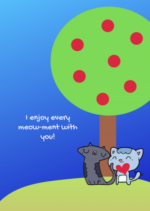 Purrfect Tree Card