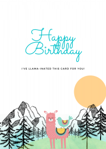 Llaminated Birthday Card