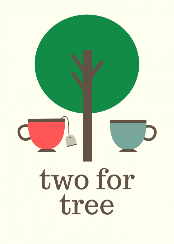 two for tree treecard