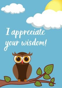 Wisdom Thank you Tree Card