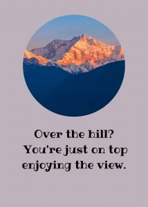 Over the hill birthday ecard