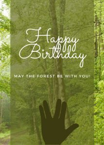 may the forest be with you birthday ecard