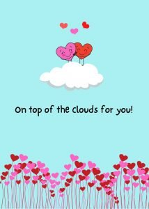 on top of the clouds ecard